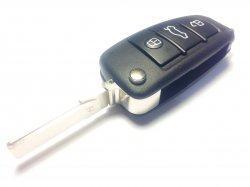 Audi корпус выкидного ключа 3 кнопки