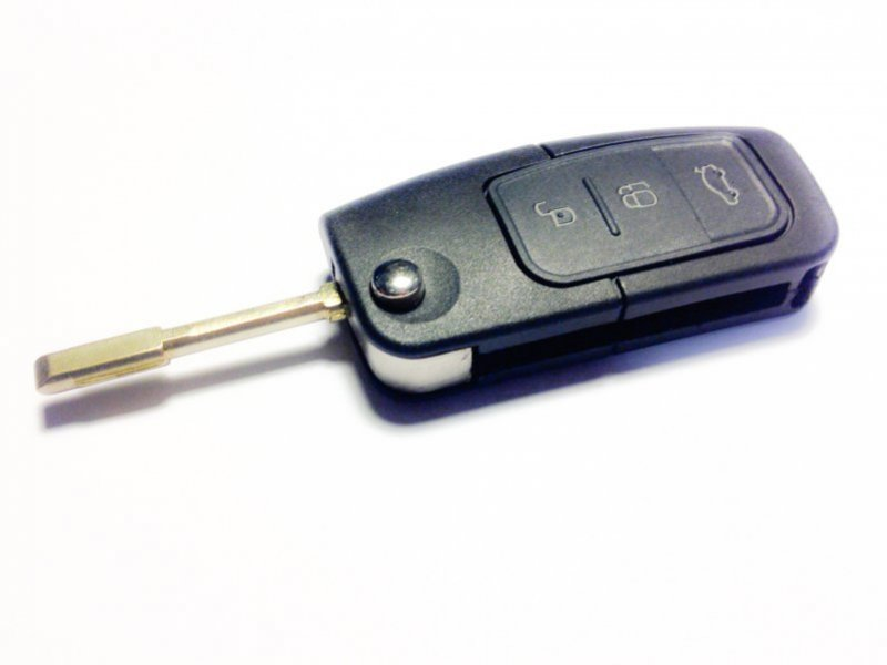 Ford ключ выкидной 3 кнопки (433 MHz) чип 4D-63