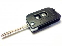 Nissan бланк ключ выкидной 2 кнопки