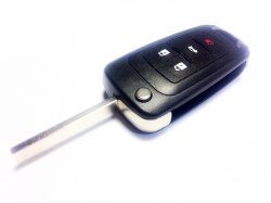 Chevrolet бланк ключ выкидной 4 кнопки