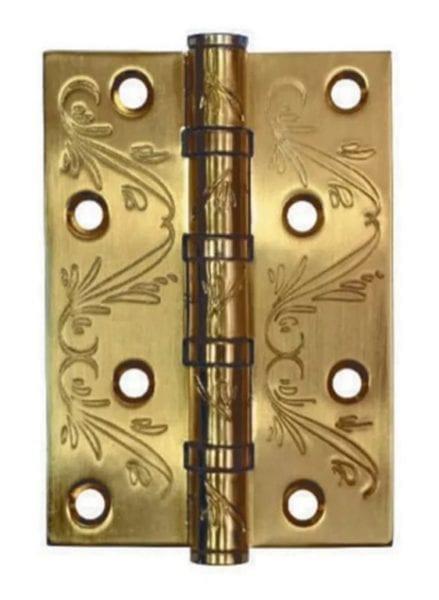 Петля Adden Bau 100X70X2.5 4BB Flo Satin Gold Матовое золото с узором