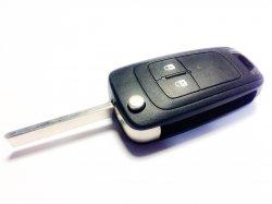 Opel бланк ключ выкидной 2 кнопки
