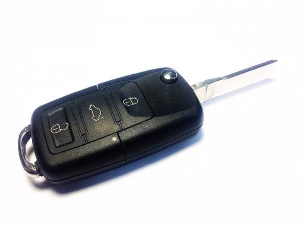 Skoda корпус выкидного ключа 3 кнопки