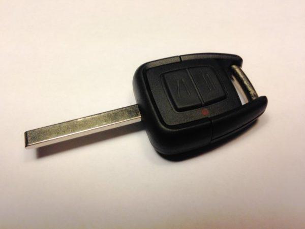 Opel ключ 2 кнопки (433 MHz) без чипа, лезвие HU100