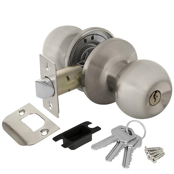 Ajax 6082 SN-E с ключом-фиксатором (матовый никель)